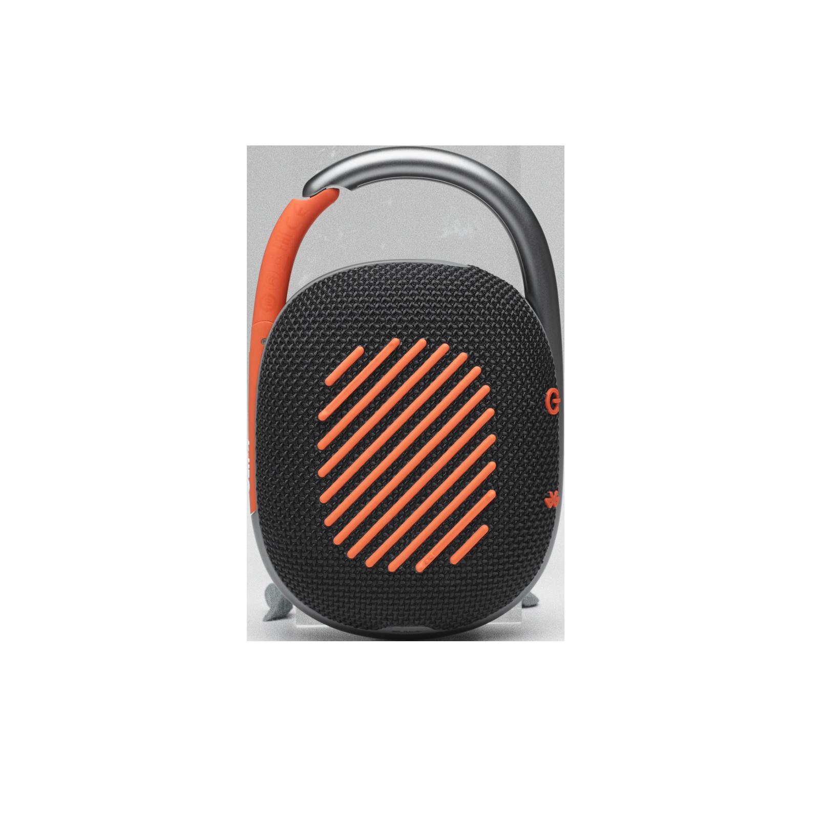 JBL CLIP 4 - Black / Orange - Ultra-portable Waterproof Speaker - Back