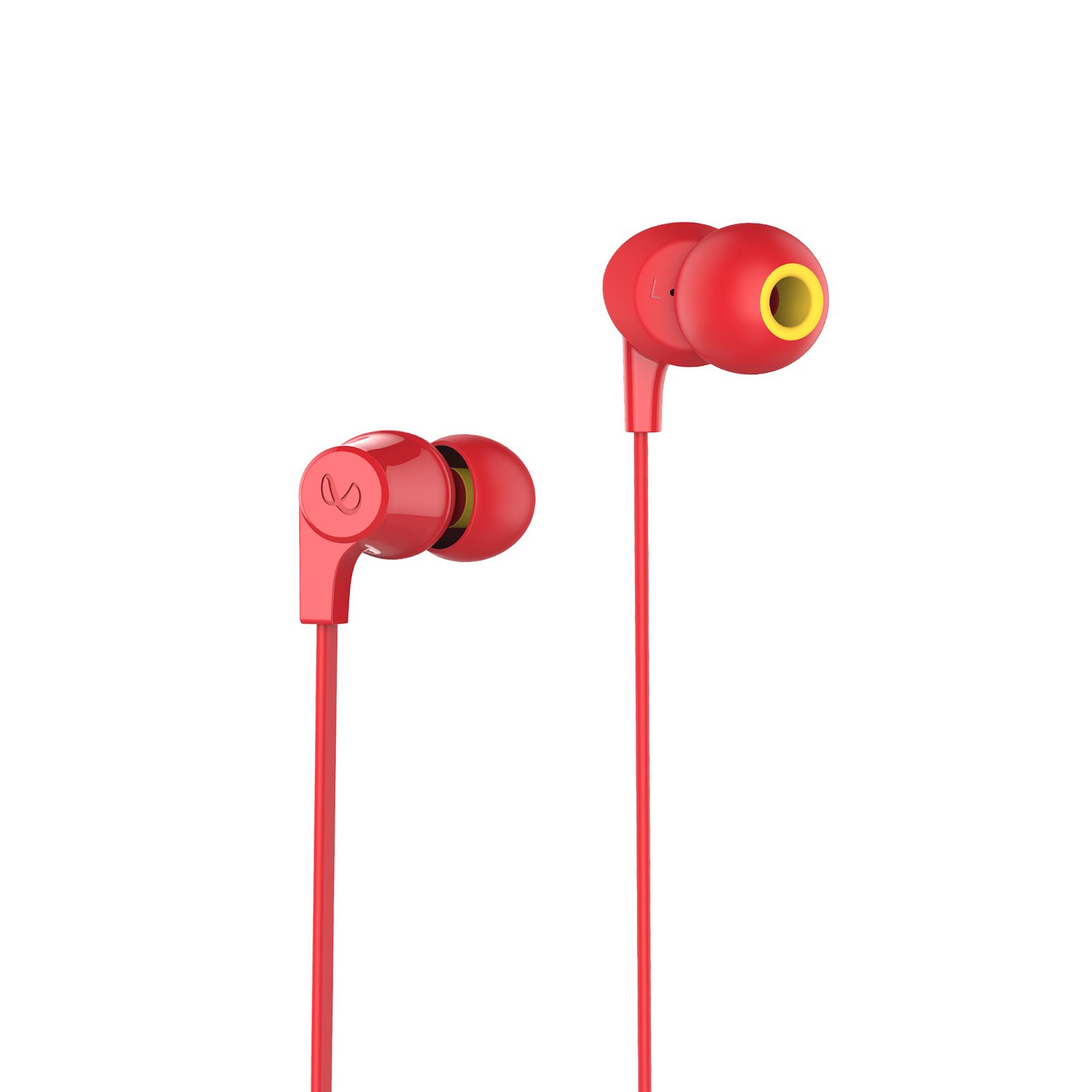 INFINITY GLIDE 100 - Red - In-Ear Wireless Headphones - Front