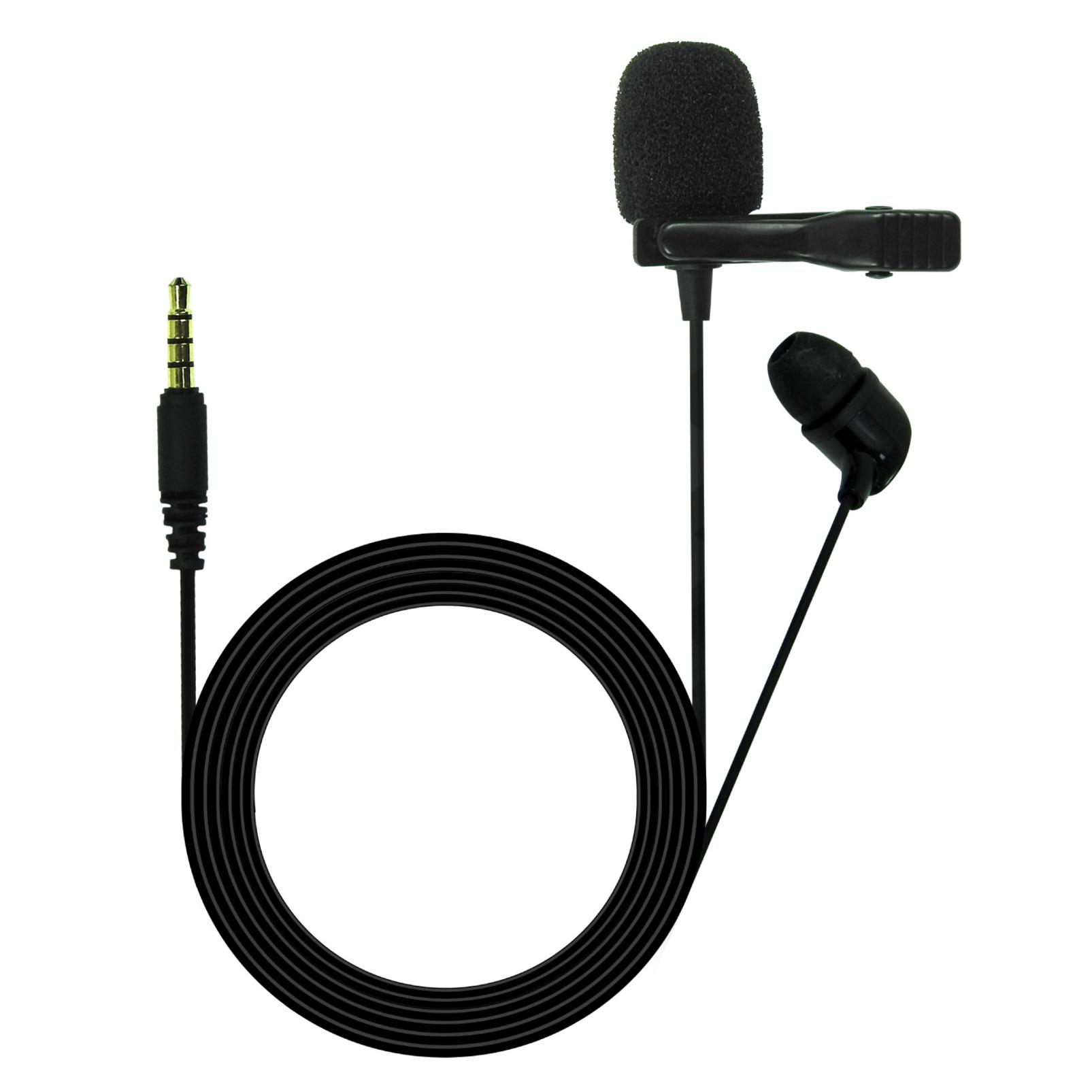JBLCSLM20 - Black - Lavalier Microphone with Earphone - Hero