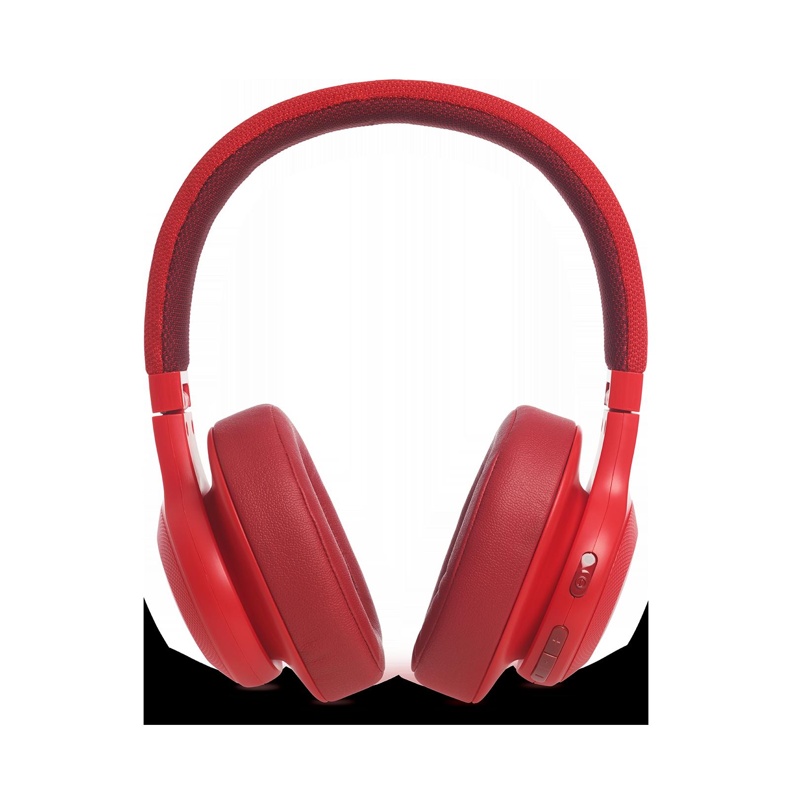 JBL E55BT - Red - Wireless over-ear headphones - Detailshot 4