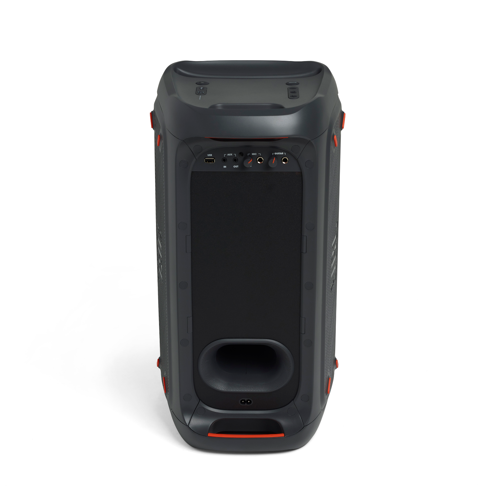 JBL PartyBox 100 - Black - Powerful portable Bluetooth party speaker with dynamic light show - Back