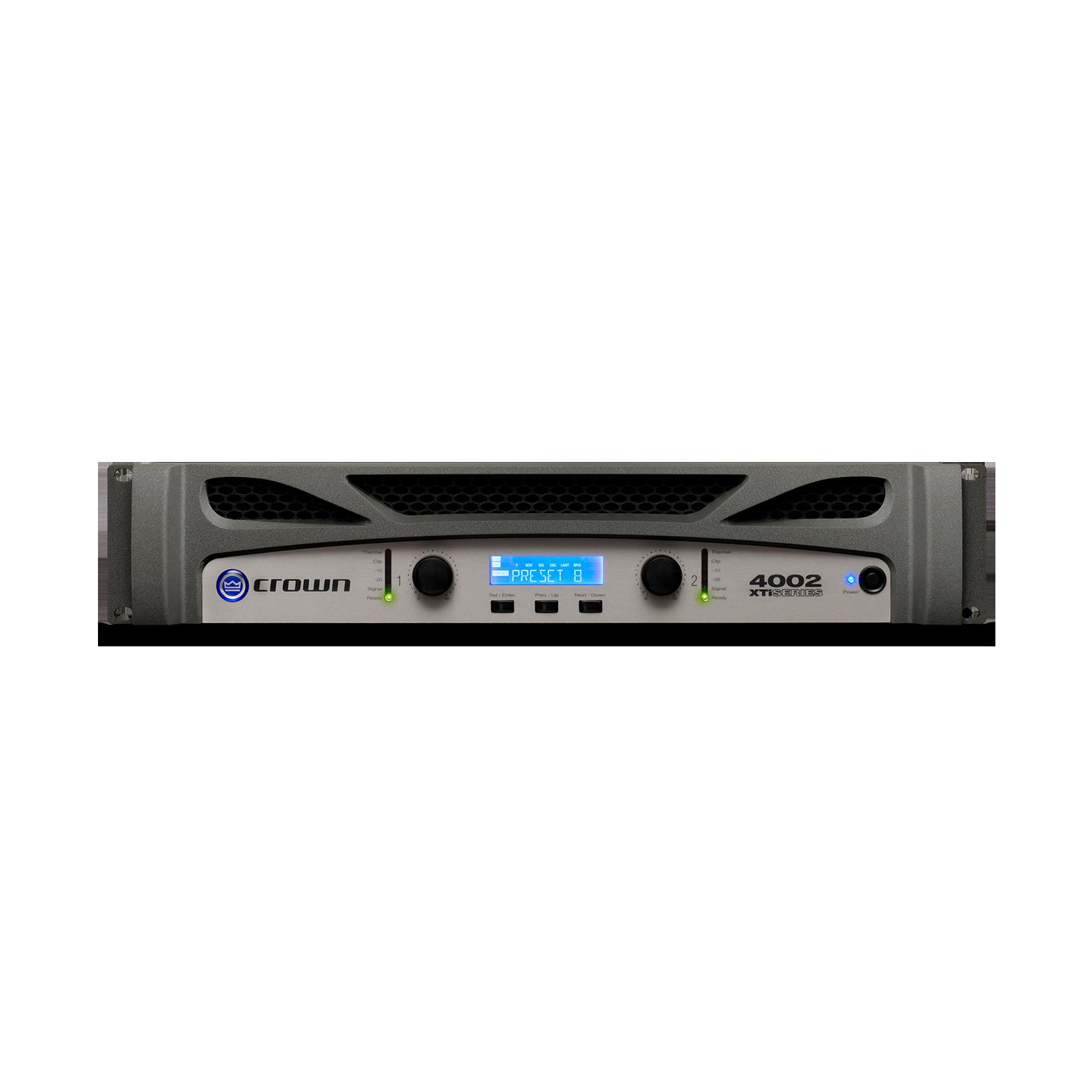 XTi 4002 - Grey - Two-channel, 1200W @ 4Ω power amplifier - Hero
